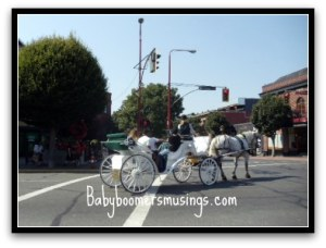 Riding in a horse and carriage