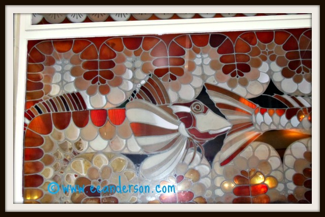 Section stained glass window poissonnerie de Dome Paris