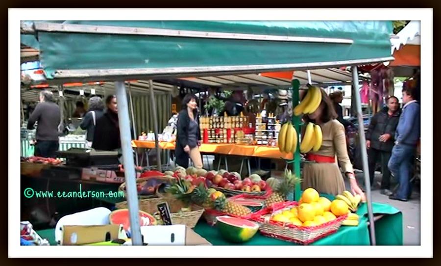 Weekly market Edgar Quinet market Paris