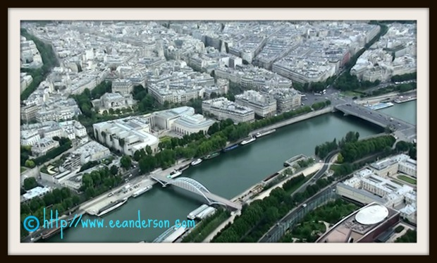 Looking at the Seine from Tour Eiffel