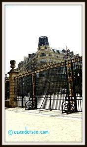 Ornate gates and fences at Jardin du Luxembourg Paris
