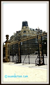 Ornate gates and fences at Jardin du Luxembourg Paris