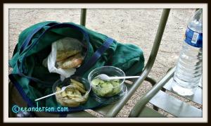 Our impromptu picnic
