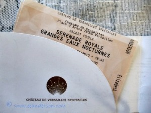 Ticket for serenade and night fountain show Chateau Versailles