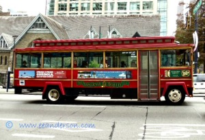 Tourist bus, Vancouver Canada
