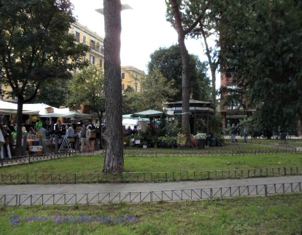 Park near Porta Portese flea market