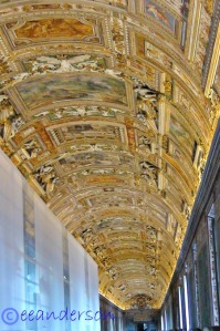 Ceiling of map room- Vatican museum