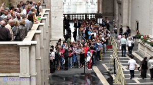 Line up to Vatican post office