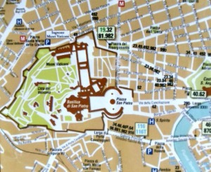 map to Vatican city