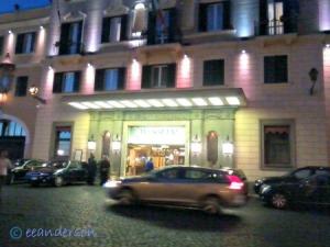 shop on Villa Veneto Rome