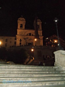 Spanish steps at night